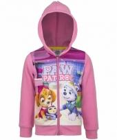 Roze paw patrol meisjes sweater 10093320