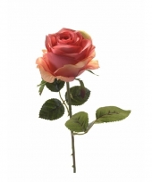 Roze rozen op steel 45 cm