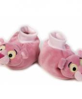 Roze slofjes met pink panter hoofd