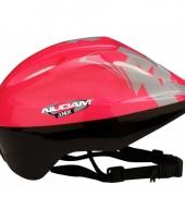 Roze sport helm voor kids