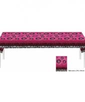 Roze sweet sixteen tafelkleed van plastic