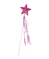Roze toverstafjes met glitters