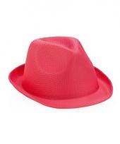 Roze trilby hoeden
