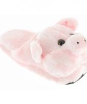 Roze varken instap sloffen voor kinderen