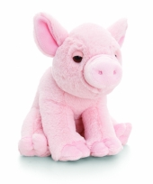 Roze varken pluche knuffel 25cm