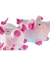 Roze varkens knuffeltje 12 cm