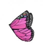 Roze vlinder vleugels voor kids