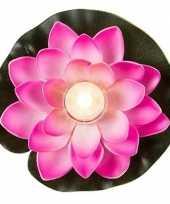 Roze waterlelie decoratie 13 cm