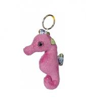 Roze zeepaarden sleutelhangers