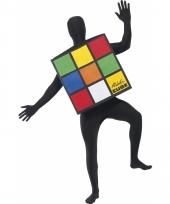 Rubiks kubus spel kostuum