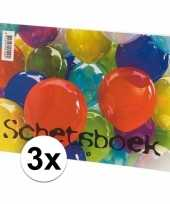 Schetsboeken 3x stuks