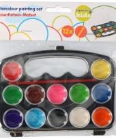 Schilder waterverf set 12 kleuren