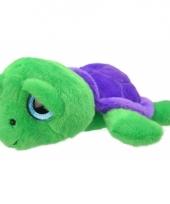 Schildpad knuffeltje groen paars 24 cm