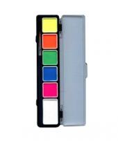 Schminkpalet aqua in 6 felle kleuren