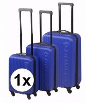 Schokbestendige koffers blauw 56 cm