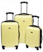 Schokbestendige koffers geel 66 cm