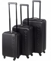 Schokbestendige koffers zwart 56 cm