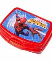 School broodtrommels spiderman rood 16 5 cm