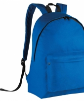 Schooltas blauw voor kinderen 38 cm