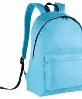 Schooltas lichtblauw voor kinderen 38 cm