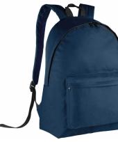 Schooltas navyblauw voor kinderen 38 cm