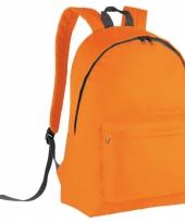 Schooltas oranje voor kinderen 38 cm