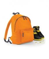 Schooltas oranje voor kinderen