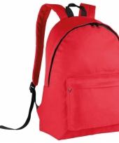Schooltas rood voor kinderen 38 cm