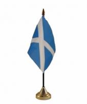 Schotland tafelvlaggetje 10 x 15 cm met standaard