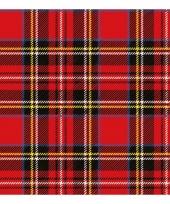Schotland thema servetten met ruit