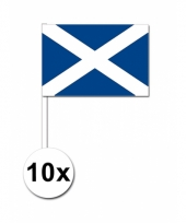 Schotland zwaai vlaggetjes 10 stuks
