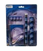 Schrijfsetje dolfijnen prent