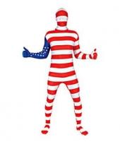 Second skin pak met amerika vlag