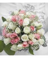 Servetten bruidsboeket 3 laags 40 st