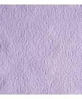 Servetten elegance paars 3 laags 15 st