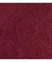 Servetten elegance rood 3 laags 15 st