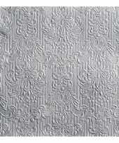 Servetten elegance zilver 3 laags 45 st