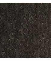 Servetten elegance zwart 3 laags 15 st