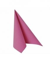 Servetten fuchsia roze 33x33 cm