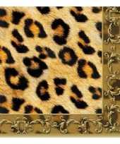Servetten luipaard print 3 laags 20 stuks