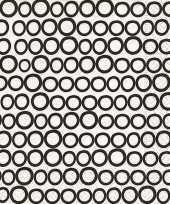 Servetten wit cirkels print 3 laags