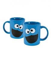 Sesamstraat koekiemonster koffie bekers