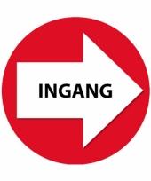 Set met rode pijl en ingang stickers