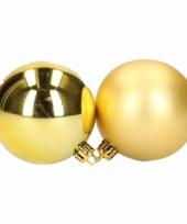 Setje gouden kerstballen 6 cm 12 stuks