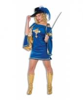 Sexy fluwelen musketiers jurkje