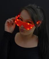 Shutter bril rood met led lichtjes