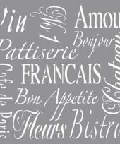 Sierlijke franse teksten tekenen