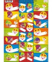 Sint en piet cadeau stickers 26 stuks