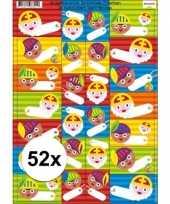 Sint en piet cadeau stickers 52 stuks