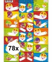 Sint en piet cadeau stickers 78 stuks